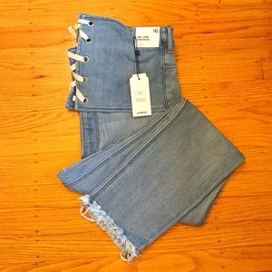 Express high waist lace front jeans